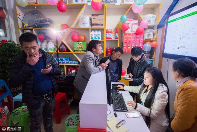 2016年11月10日,贵州省遵义市习水县,习水县程寨镇罗禹洞村淘站点