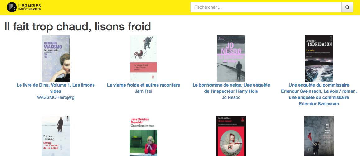 法国独立书店线上平台页面