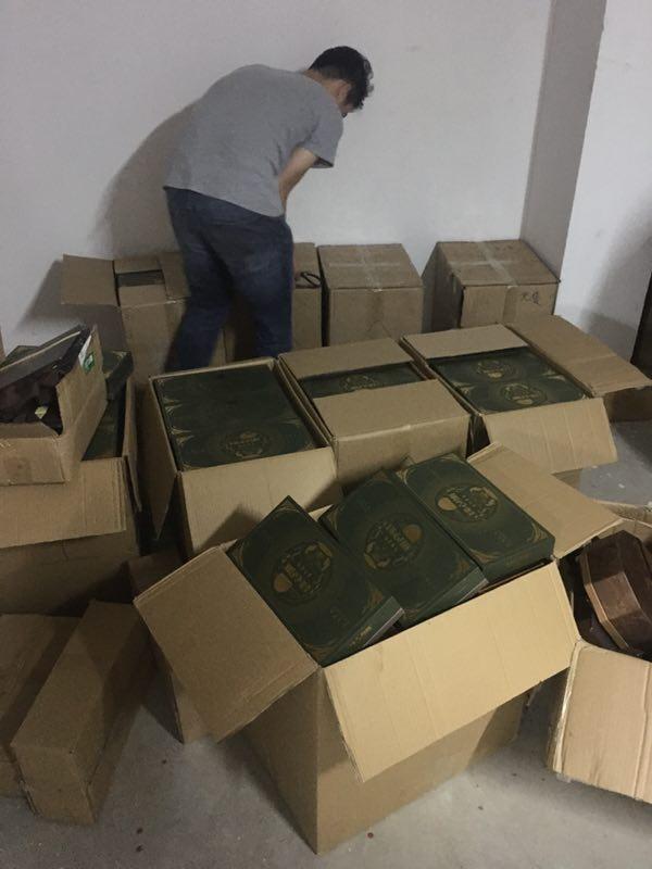 图说:犯罪团伙累计共销售假冒品牌月饼2000余盒,涉案金额50万余元。