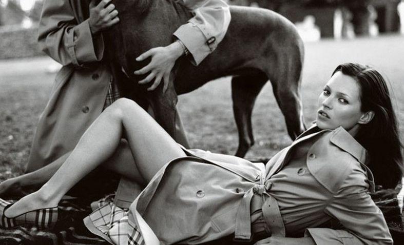 为Burberry拍摄广告的Kate Moss