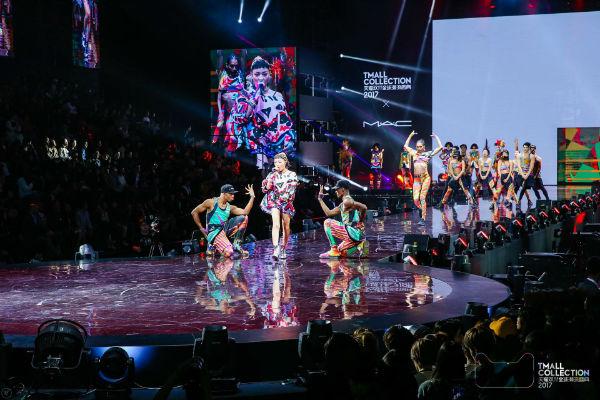 雅诗兰黛旗下M.A.C今年带来当红RAP女歌手VAVA参加天猫双11全球潮流盛典