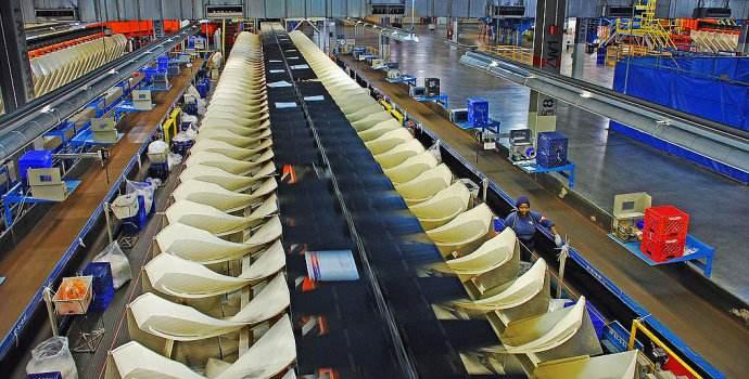 孟菲斯机场内部的快递分拣系统