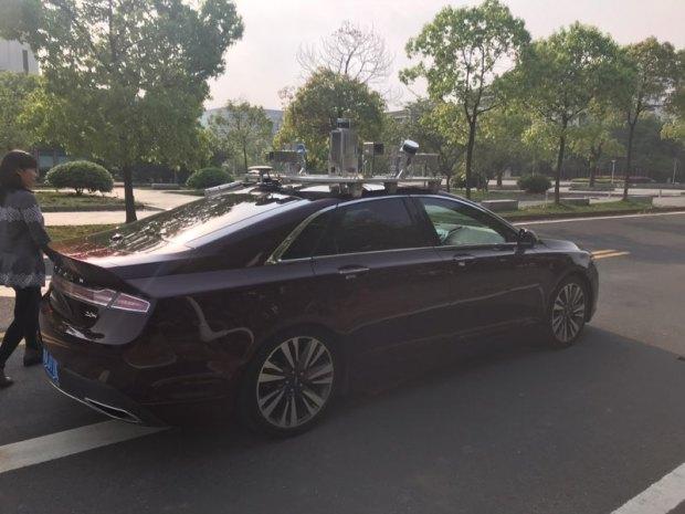 阿里自动驾驶车路测。图由阿里内部认识提供