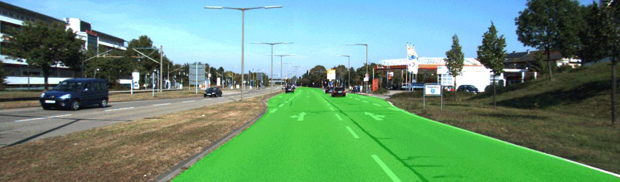 阿里巴巴提供的道路场景分割示意图