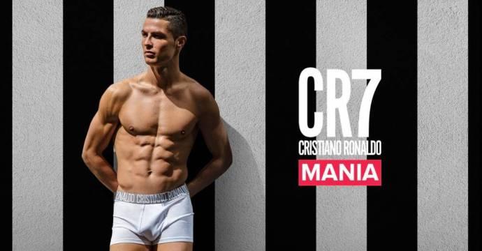 CR7underwear开通了意大利官网 背景是黑白条纹,界面为尤文主场安联球场