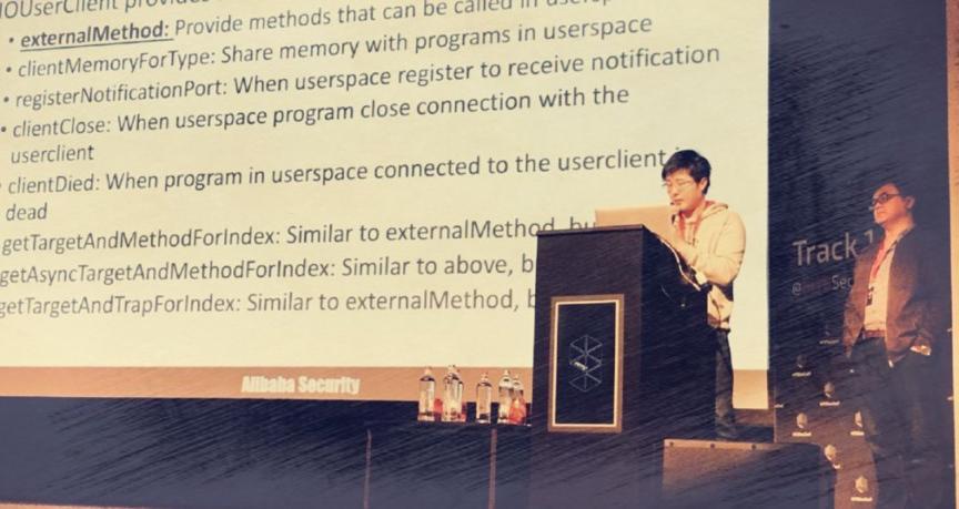 图说:阿里安全猎户座实验室安全专家蒸米和搭档白小龙在国际顶会HITB 上做演讲_meitu_19