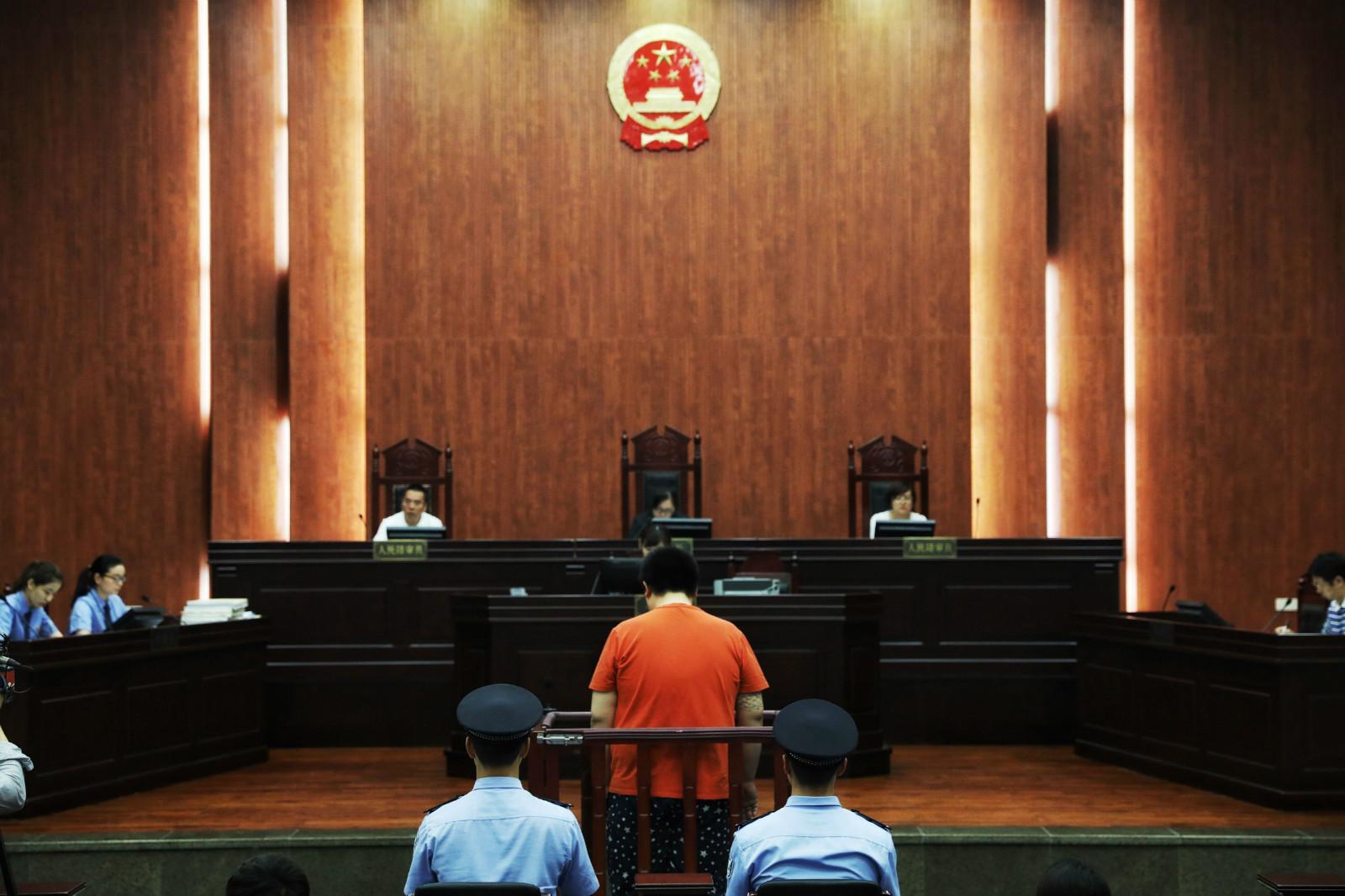 """资料图片:2017年6月20日上午,全国""""刷单入刑""""第一案在杭州余杭区法院宣判_meitu_1"""