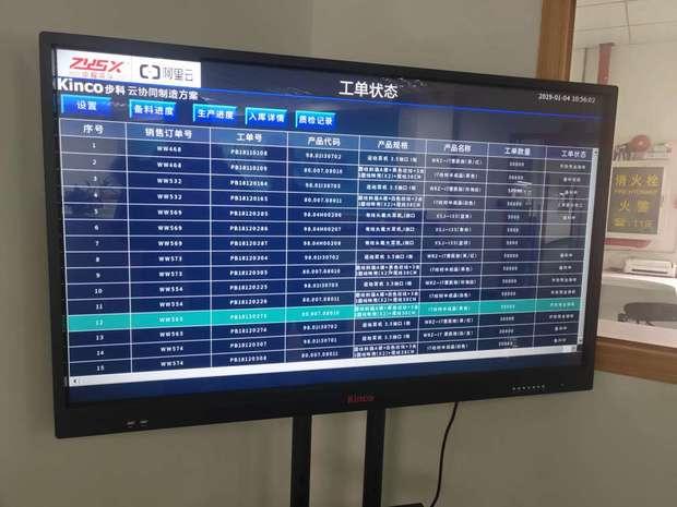 WRZ总部大屏上,物料和各条产线的产能情况一目了然