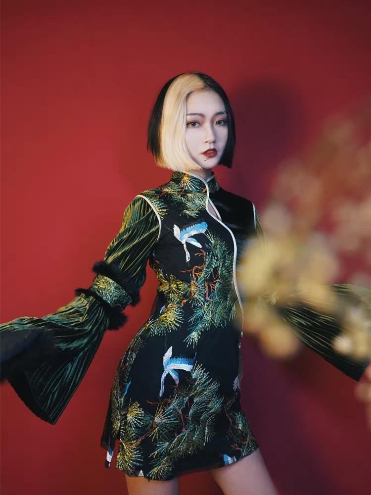 95后少女曾四斤在淘宝上让旗袍变成日常穿搭